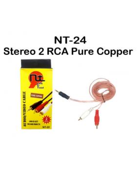 Stereo 2 RCA Pure Copper